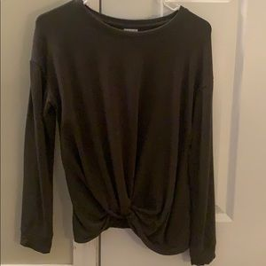 Knotted front sweatshirt